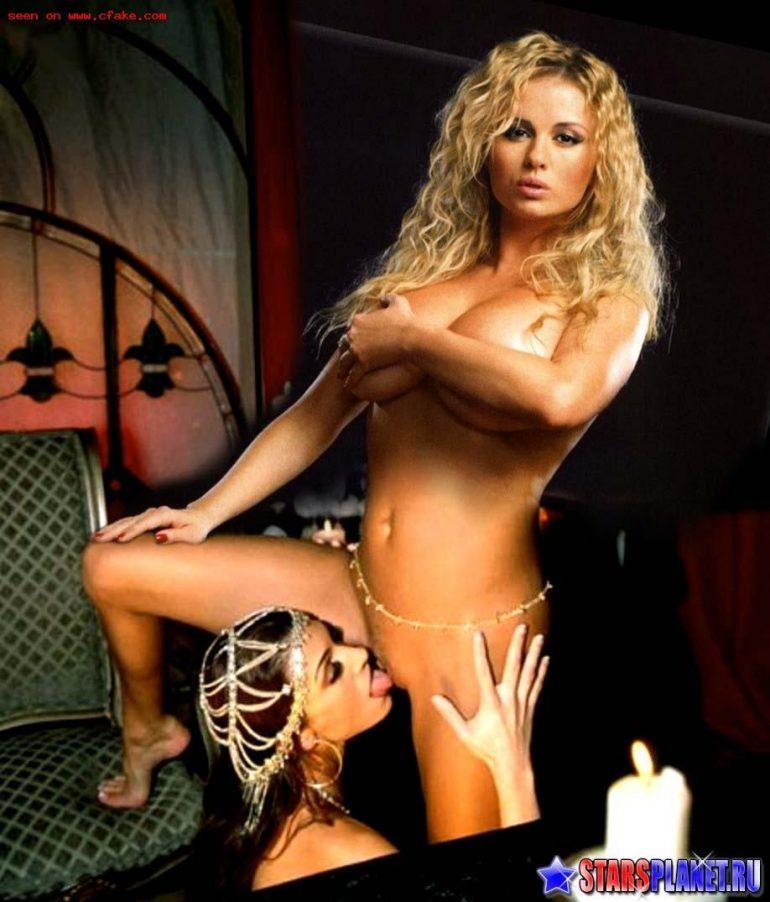Анна Семенович с лесбиянкой